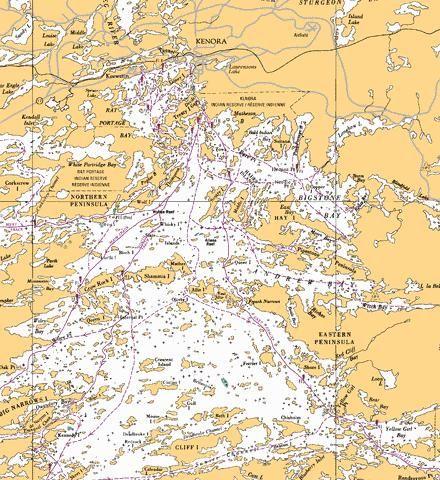 KENORA TO/A AULNEAU PENINSULA Marine Chart - Nautical Charts App