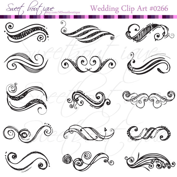 Black digital clip arts wedding decorations digital clip art black digital clip arts wedding decorations digital clip art ornate clipart handdraw clipart clipart scrapbooking text dividers 0266 junglespirit