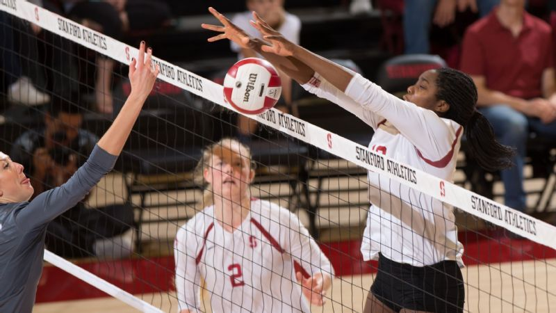 Ncaa Volleyball Familiar Four In Columbus With Images Stanford Volleyball Volleyball Volleyball News
