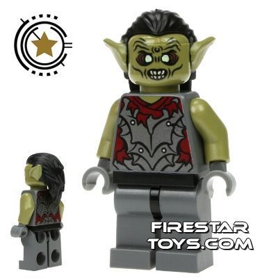 LEGO MORDOR ORC BALD LORD OF THE RINGS HOBBIT /& LOTR AUTHENTIC MINIFIGURE