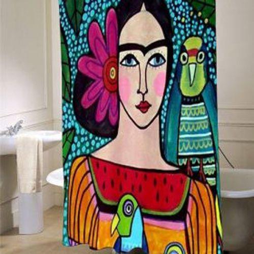 Frida Kahlo Showercurtain Ai In 2020 Shower Curtain