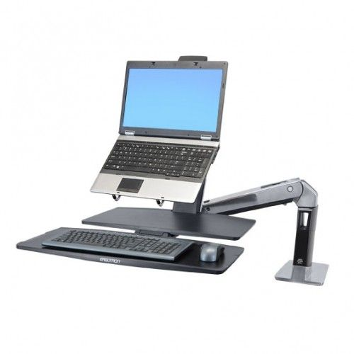 Brazo Y Laptop Sobre Escritorio Ergon Mico Home Office