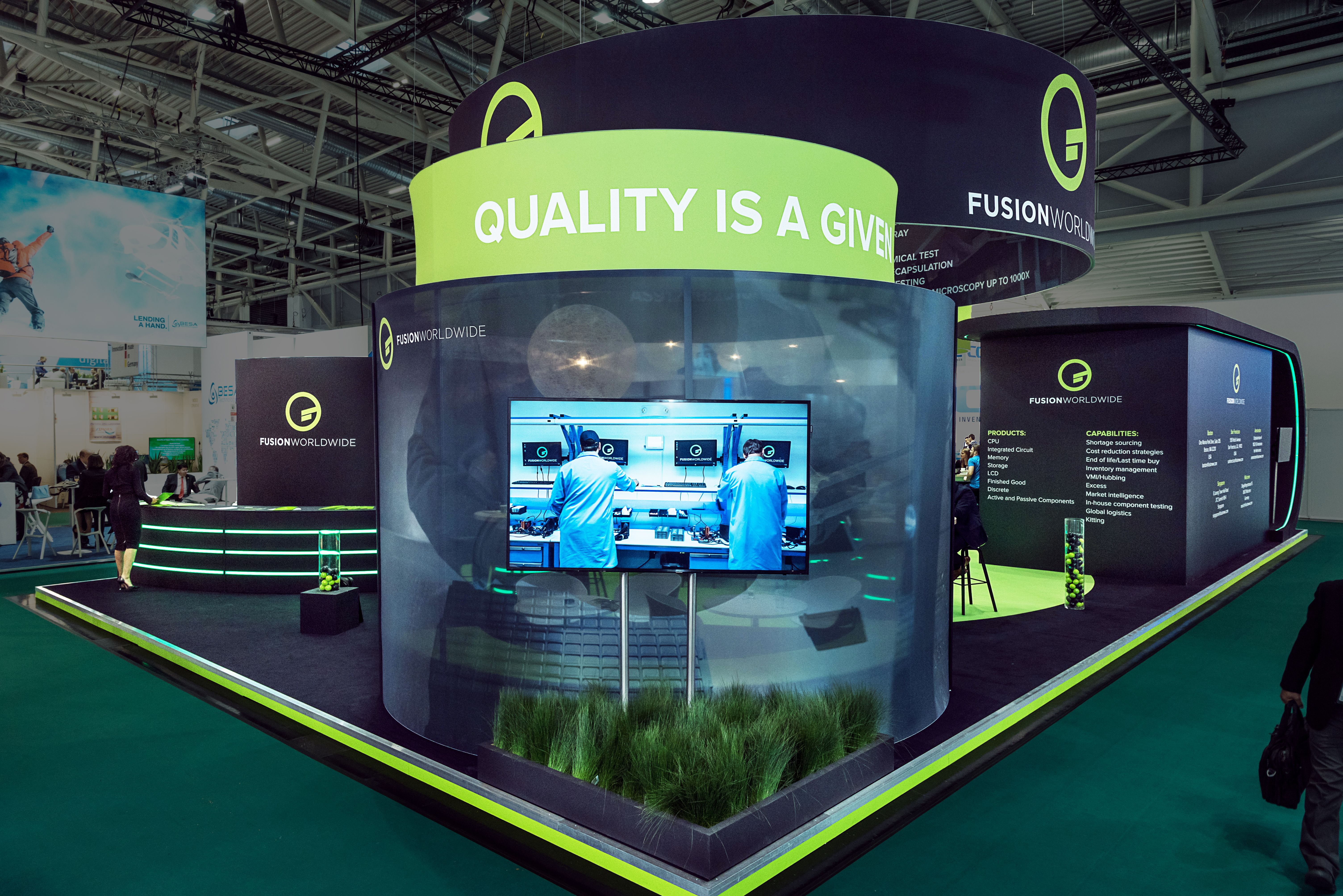 Exhibition Stand Builders In Munich : Creative design exhibition stand for fusion worldwide at