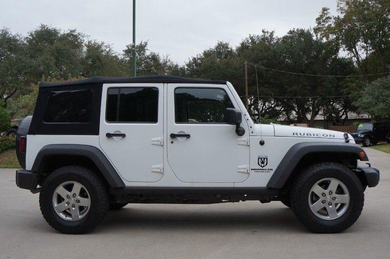 White 4 Door Jeep Wrangler I Prefer The Black Soft Top But I Like