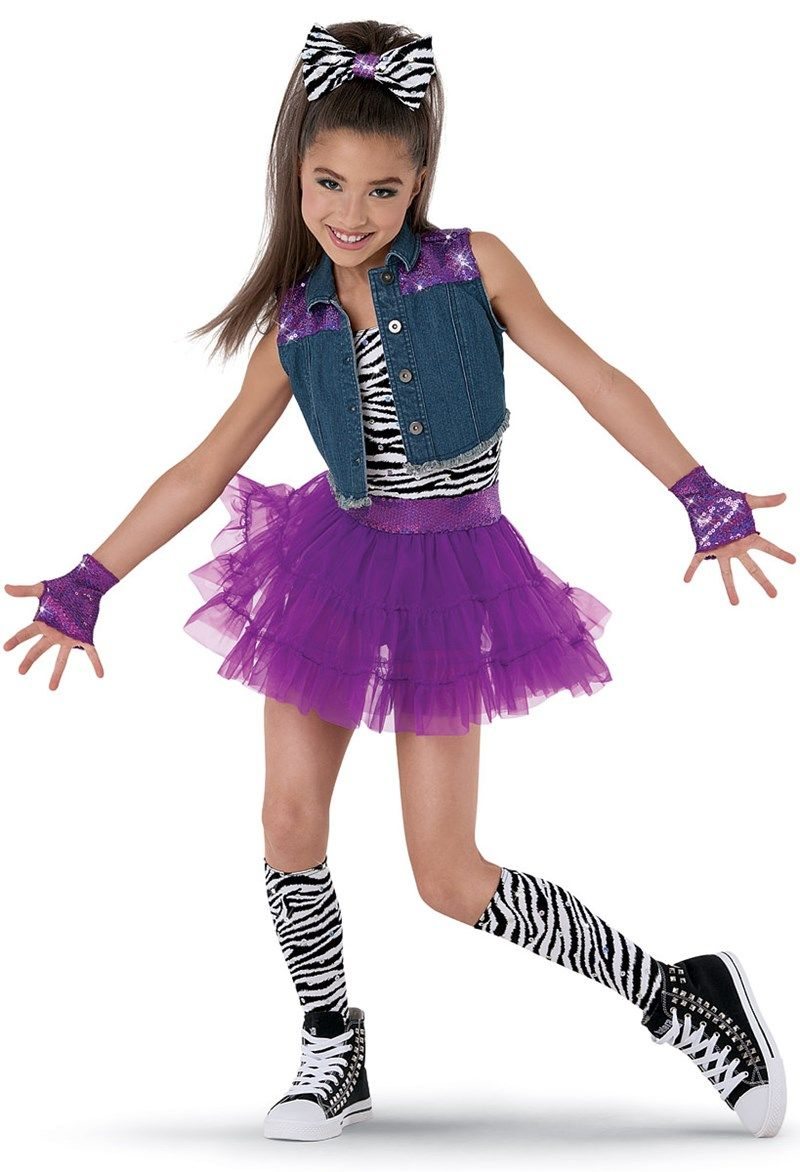 Weissman™ | Denim Vest Zebra & Tulle Skirt | Dance | Pinterest ...