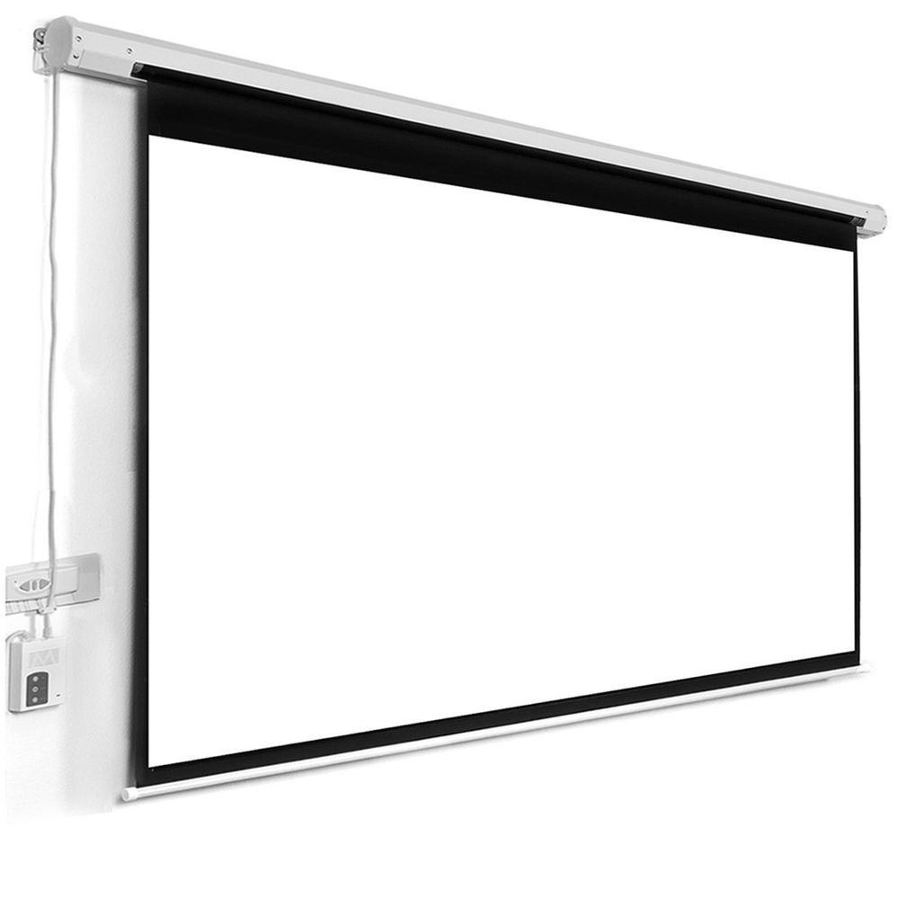 Large 120 Electric Motorized Lift Lower 16 9 Ratio Projector Screen Rc Mount Unbranded Projection Screen Projector Screen Projector