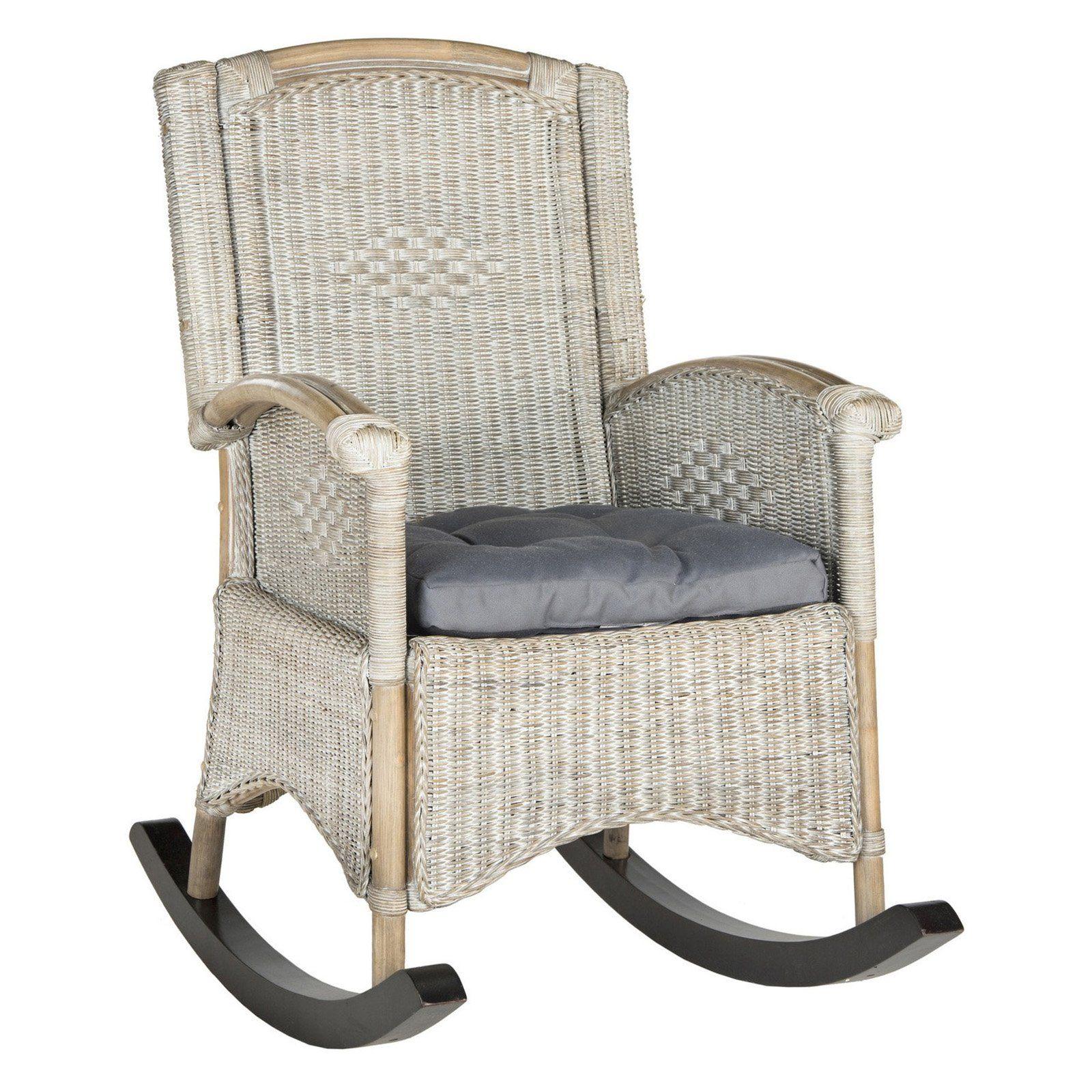 Safavieh Verona Wicker Outdoor Rocking Chair Rattan