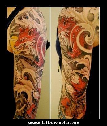 Japanese Wolf Tattoos Wolf Tattoos Original Tattoos Cool Tattoos