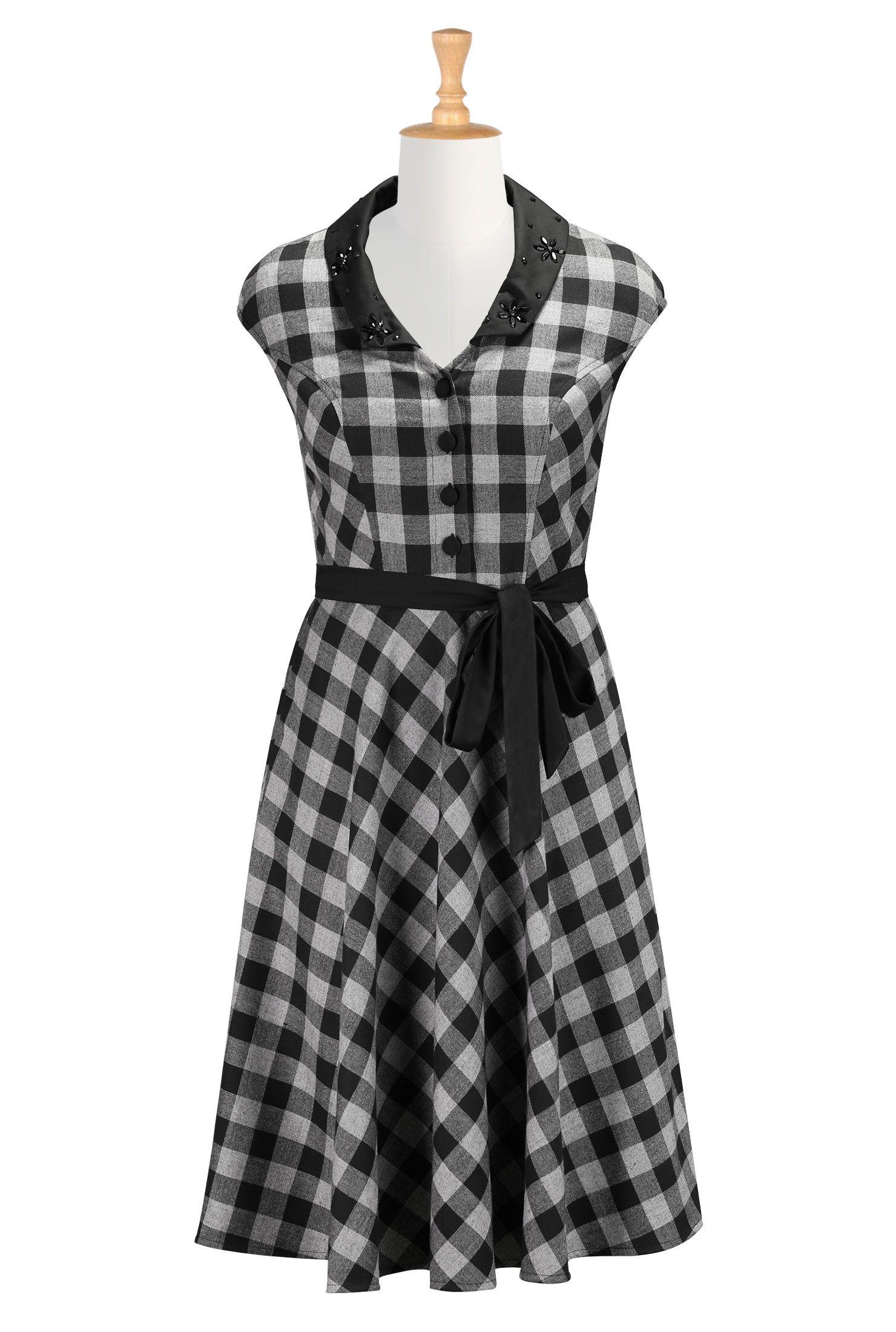 66b94d65579c Beaded Collar Dresses
