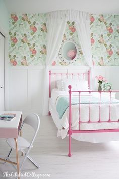 Pink Green Fl Wallpaper S Room In Love With This For Adeline