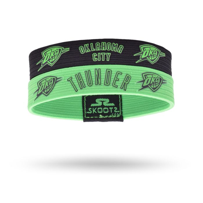 Shop for Oklahoma City Thunder NBA wristbands and fan gear. Find your teams NBA bracelets and gear today! http://www.skootz.com/