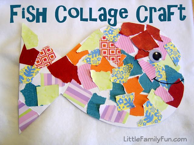 collage craft ideas fish collage i m so glad there are creative out 1337