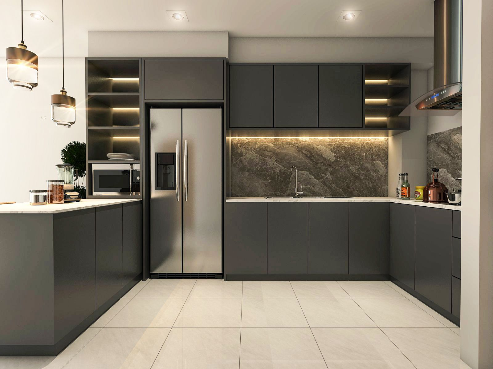 Kitchen Sketchup vray 20  Ps  Sketch up render in 2019  Kitchen Cabinets Interior