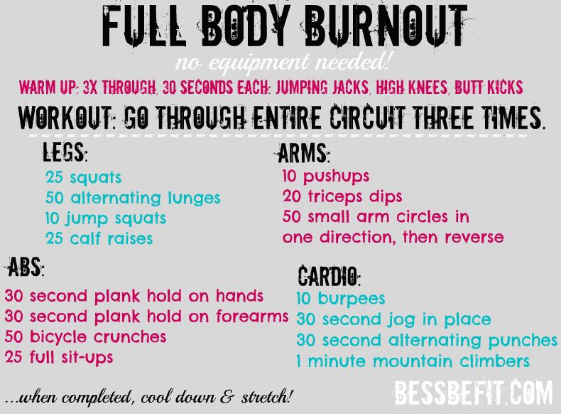 Quick Sweat Cardio Workout To Lose Weight Burn