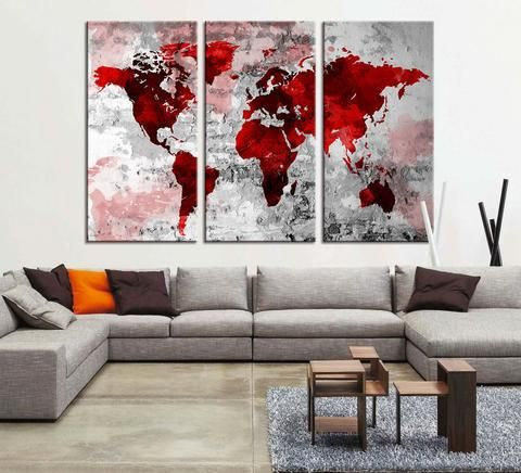 Retro world map canvas print art drawing on old wall watercolor retro world map canvas print art drawing on old wall watercolor worl extra large gumiabroncs Image collections