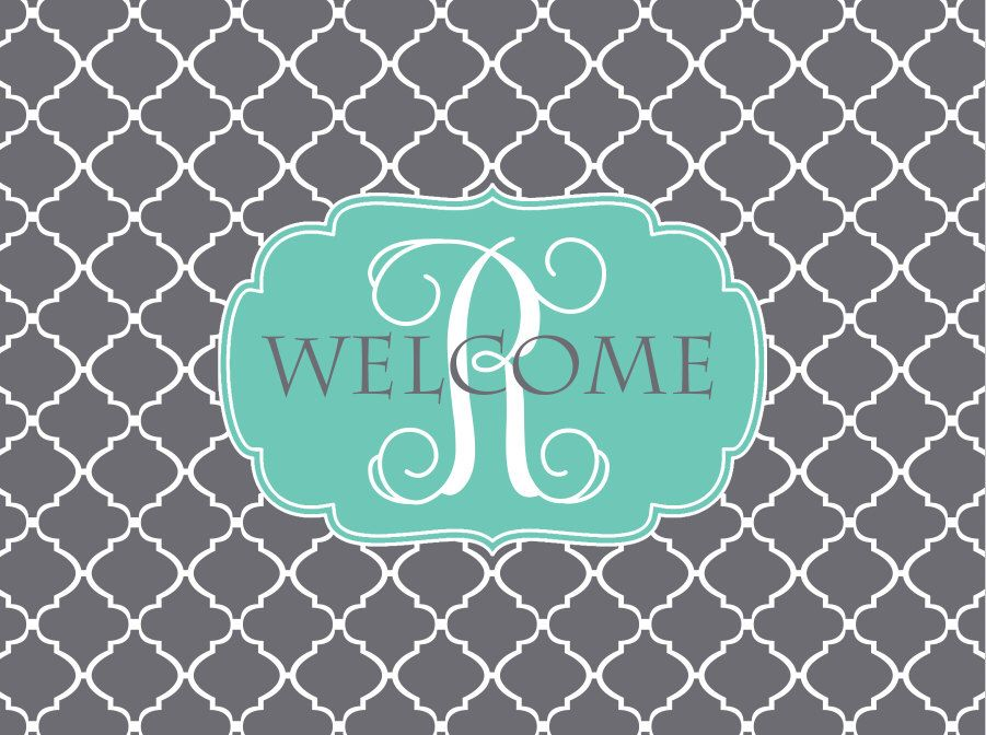 Personalized Door Mat, Monogrammed Doormat, Custom Door Mat, Personalized Doormat, Monogrammed Door Mat, Custom Doormat, Clover Door Mat by LoveyDoveyCreations on Etsy https://www.etsy.com/listing/176699165/personalized-door-mat-monogrammed