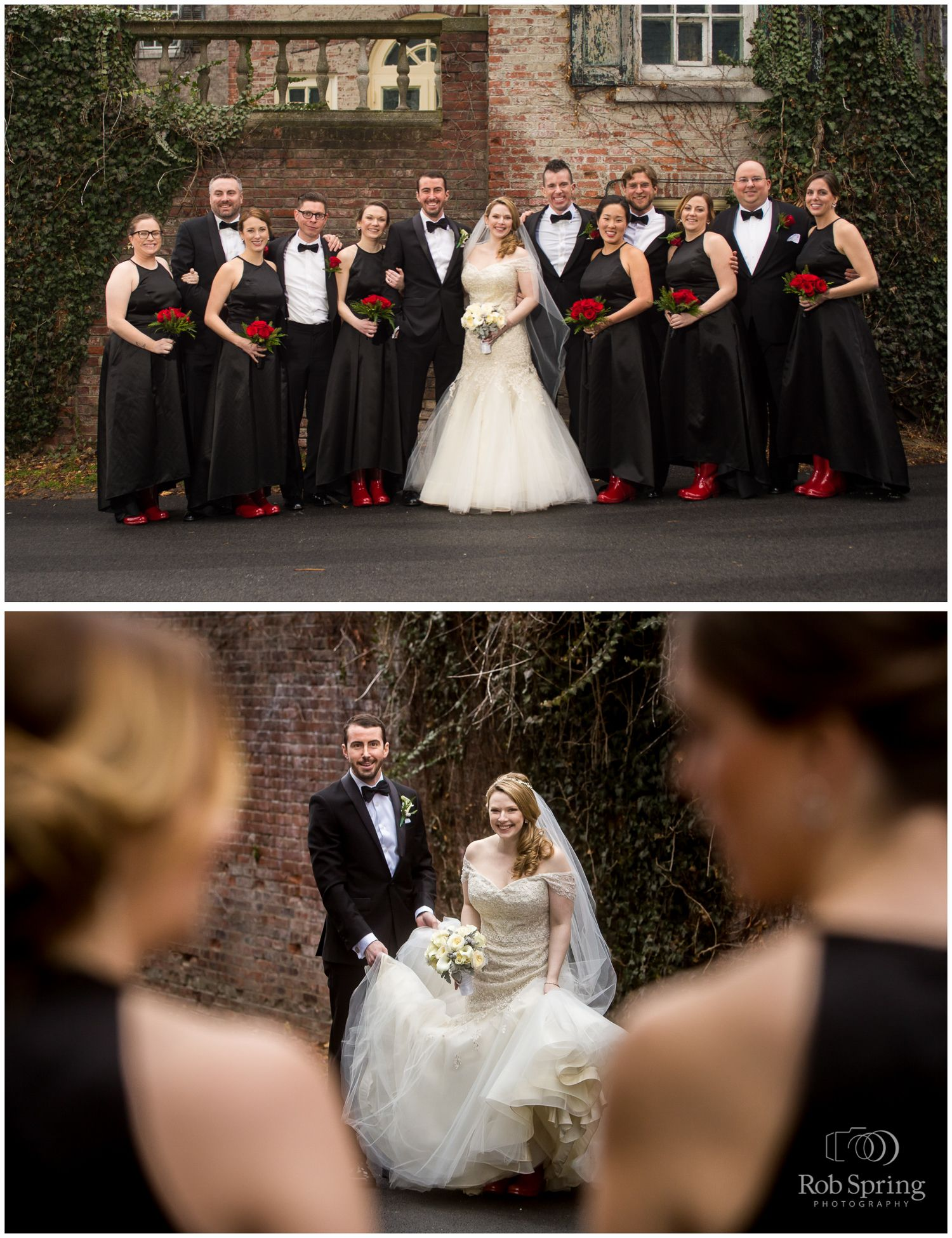 Red uggs boots bridal party red flowers black bridesmaids red uggs boots bridal party red flowers black bridesmaids dresses winter glen sanders ombrellifo Images
