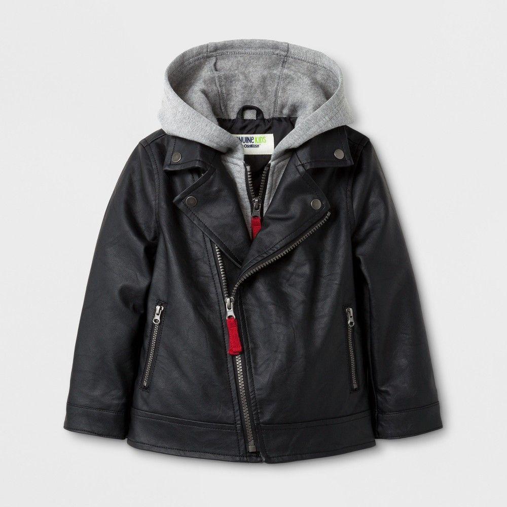 93eff4fd0 Toddler Boys  Asymmetric Zip Moto Jacket with Hood Genuine Kids from ...