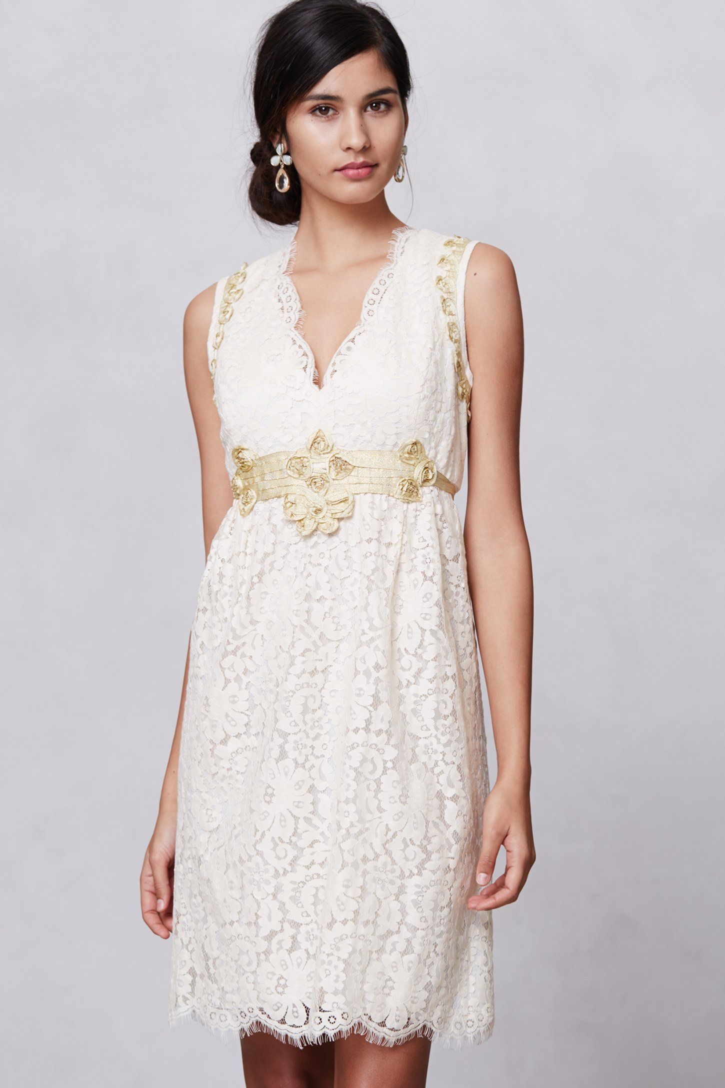Dress for wedding engagement party  Lonoke Lace Dress by Anna Sui  Anthrofave  Fashion  Pinterest