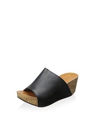 5d8e4af6830 Chocolat Blu Women s Manny Wedge Sandal (Black Leather)
