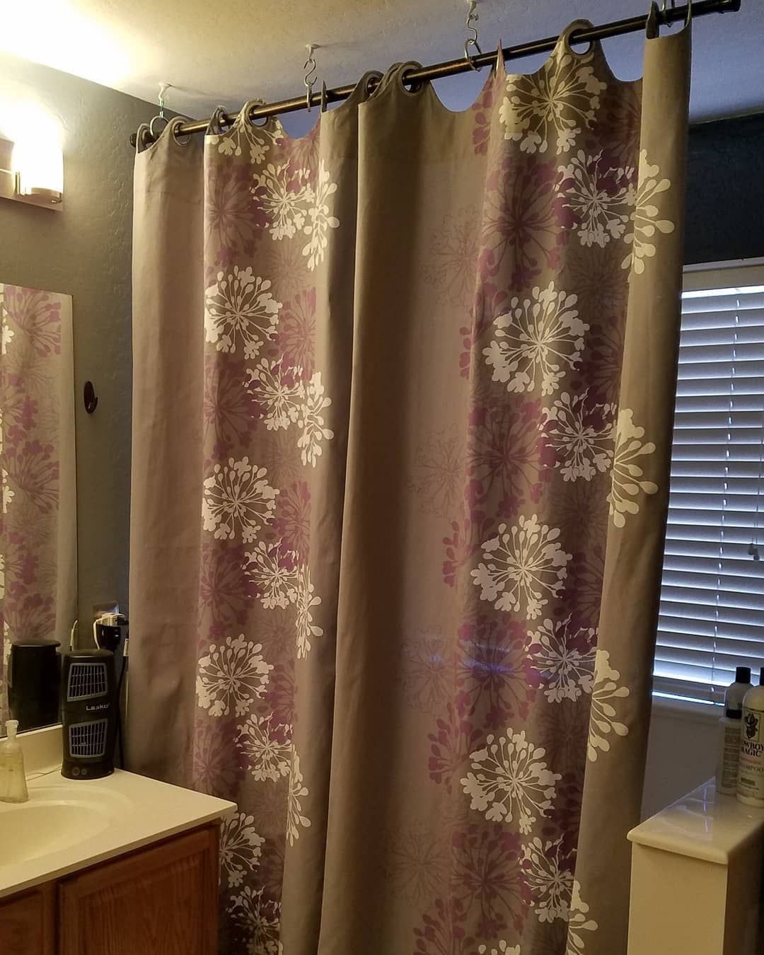I love our new privacy bathing curtains my next project is to have