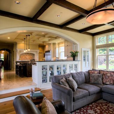 Step Down To Family Room Design Ideas Pictures Remodel And Decor Living Room Decor