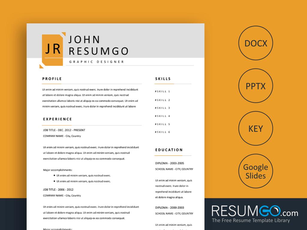XERXES Modern & Simple Resume Template
