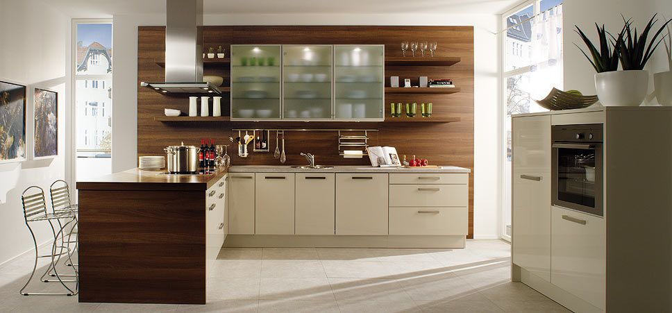 Kitchen-Wall-Cabinets-With-Glass | Interior Inspiration | Pinterest ...