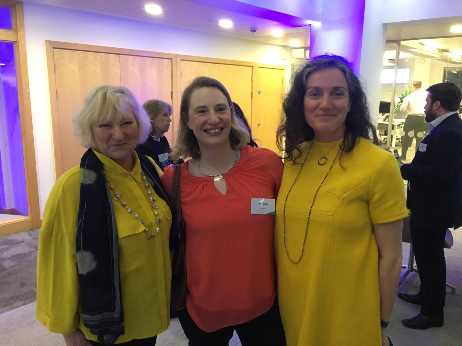 Winners wear yellow 😀 Prof Christine Bamford winner of