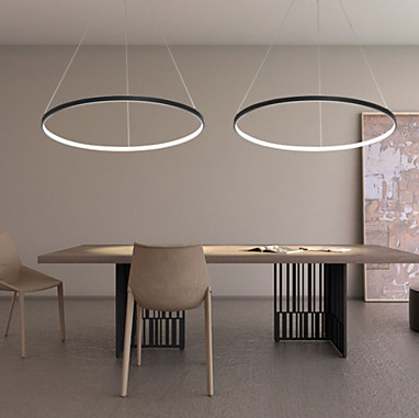 Circular Pendant Light Chandelier Lighting Lamp Ambient Light - LED Dimmable Remote Control #pendantlighting