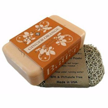 Luxury Shea Butter Soap Bar & Sea Lark Soap Lift Set - Ginger Orange