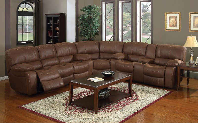 Logan Reclining Sectional with Cup Holder : reclining sectionals with cup holders - Sectionals, Sofas & Couches