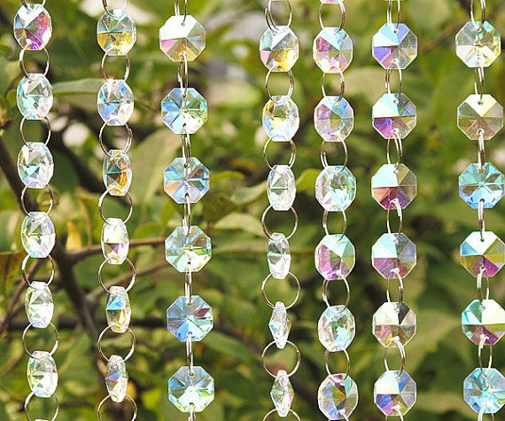 Aurora Borealis Hanging Glass Crystals Bulk Iridescent Hanging Glass - Glass chandelier crystals bulk