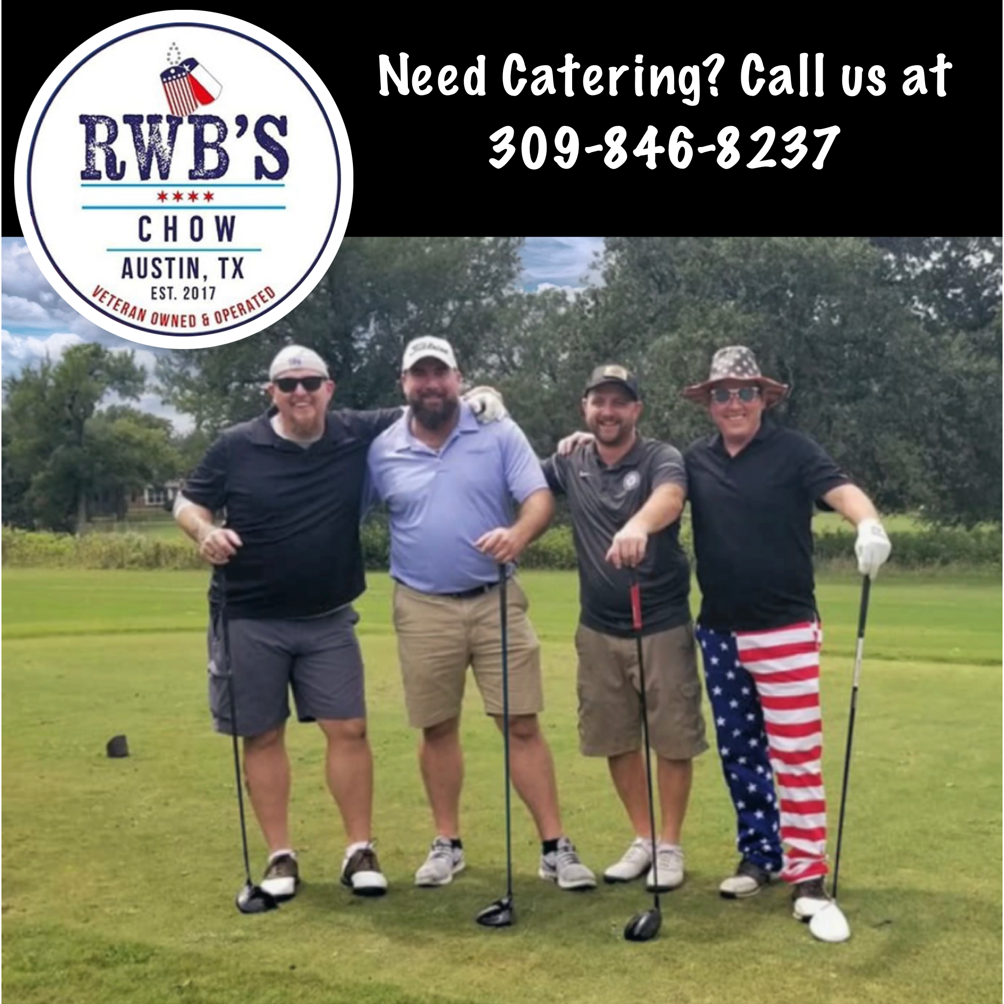 Nothing Says Murica Like Golf Flag Pants Brothers And Veteran Founded Groups Competing In Our First Sponsored Golf Tour In 2020 Rwb Chow Chow Veterans Donations