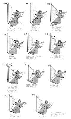 Enjoyable Papiroflexia Para Tod S Angel Tocando El Arpa Origami Origami Wiring 101 Capemaxxcnl