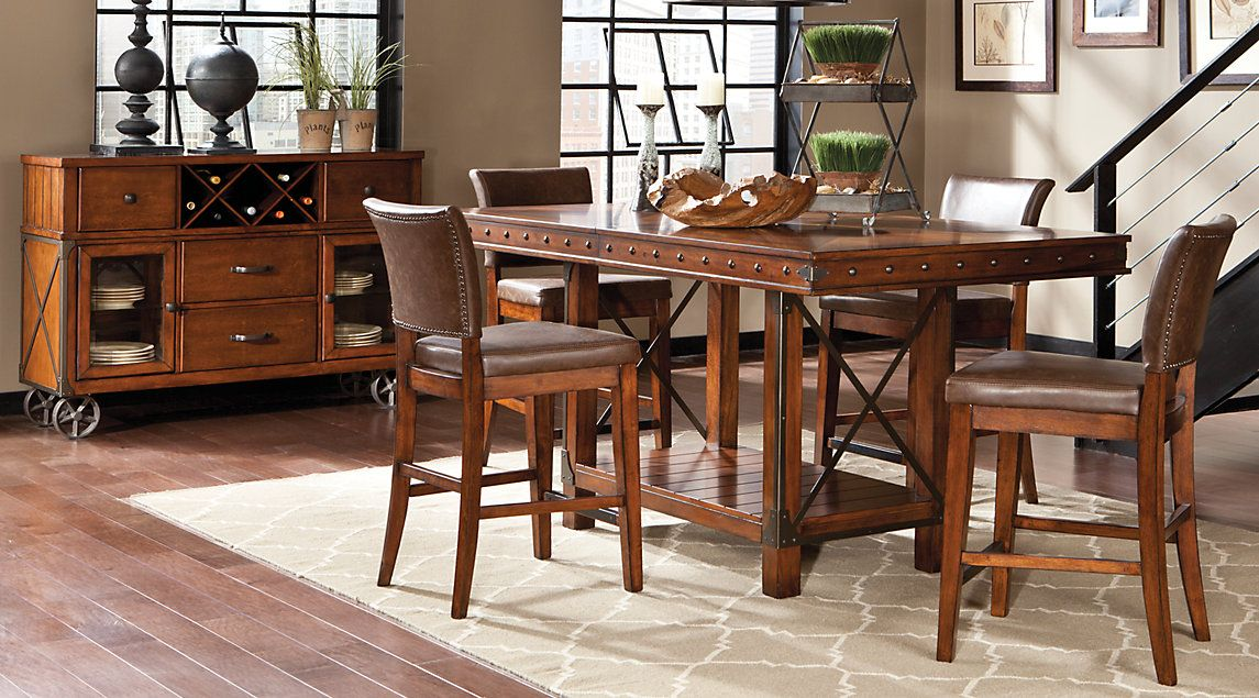Affordable Counter Height Dining Room Sets Rooms To Go Furniture Rooms To Go Furniture Dark Wood Dining Room Set