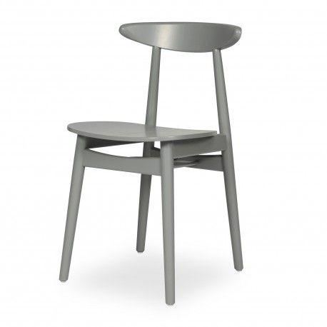 Chaise TEO grise Salle à manger Pinterest - table de salle a manger grise