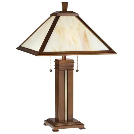 Prairie Style With Honey Glass Table Lamp From Lampsplus.com