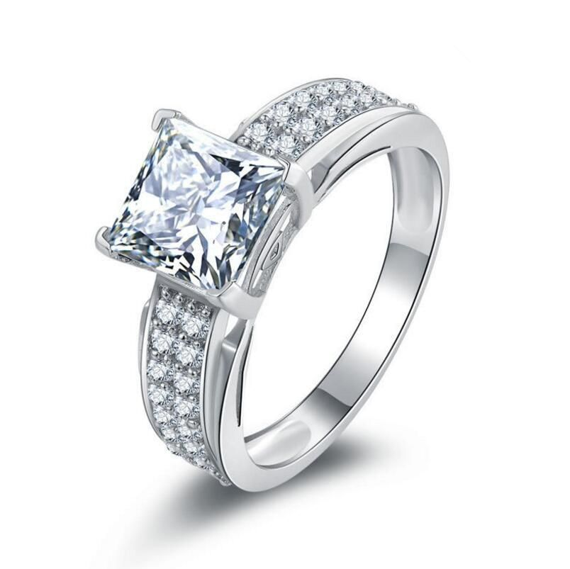 1 Carat High Grade 925 Sterling Silver Ring Sona Diamond Wedding