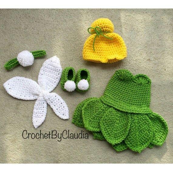 Oh my goodness. Crochet Tinkerbell costume. crochet Pinterest Tinkerbel...