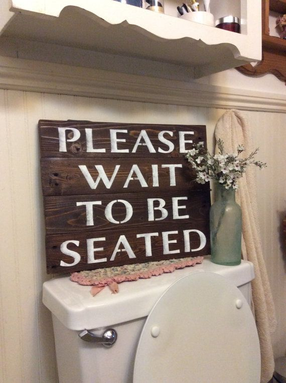 Please Wait To Be Seated Pallet Wood Sign Great Piece To Display