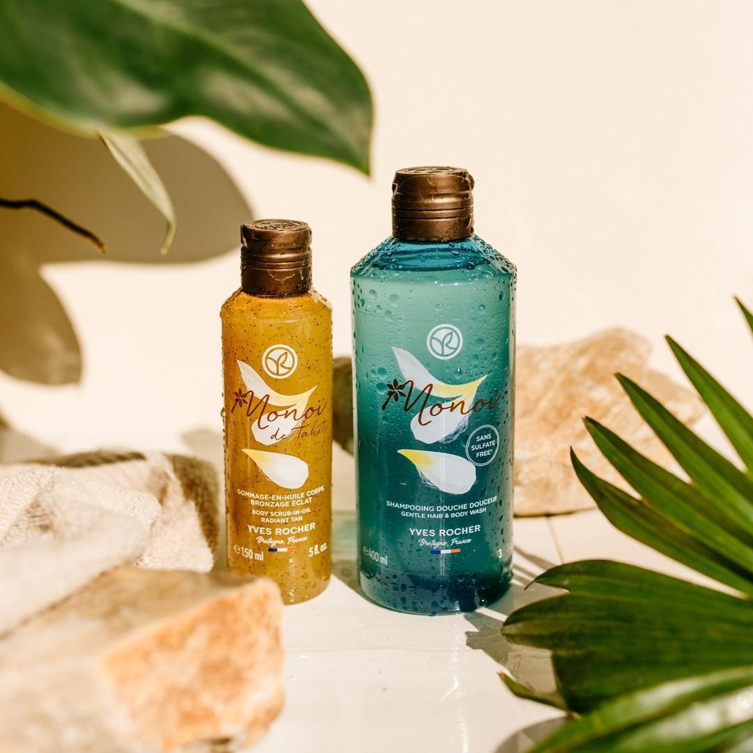 Monoi Body Scrub & Hair And Body Wash in 2020 Monoi