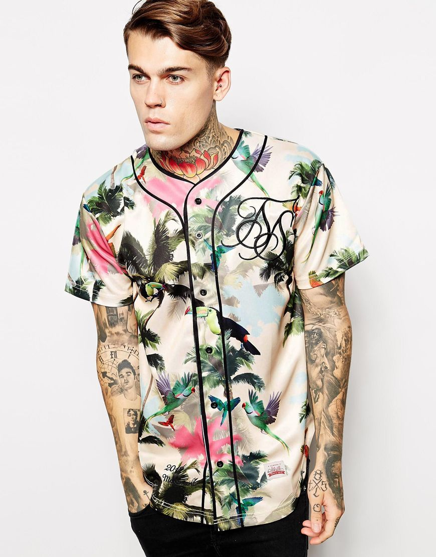Image 1 of SikSilk Tropical Baseball Jersey
