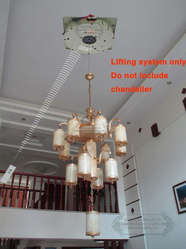 100kg 5m Auto Remote Control Lighting Lifter Chandelier Hoist Winch Lift Light Motor110v