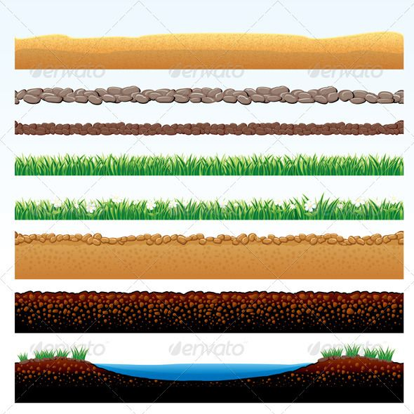 ground borders  graphicriver natural grass and ground borders set  u2013 cartoon illustration of