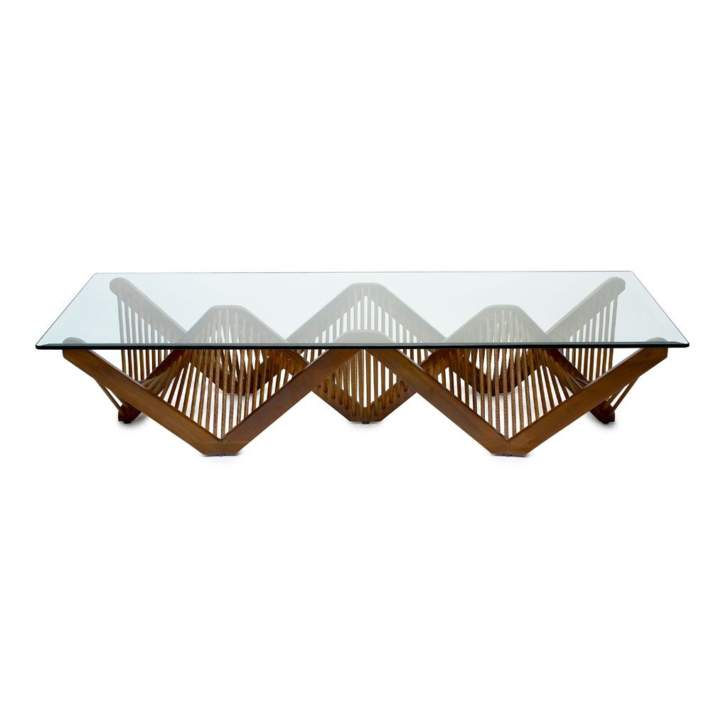 Geo Rectangular Cocktail Table With Glass made by Vito Selma ...