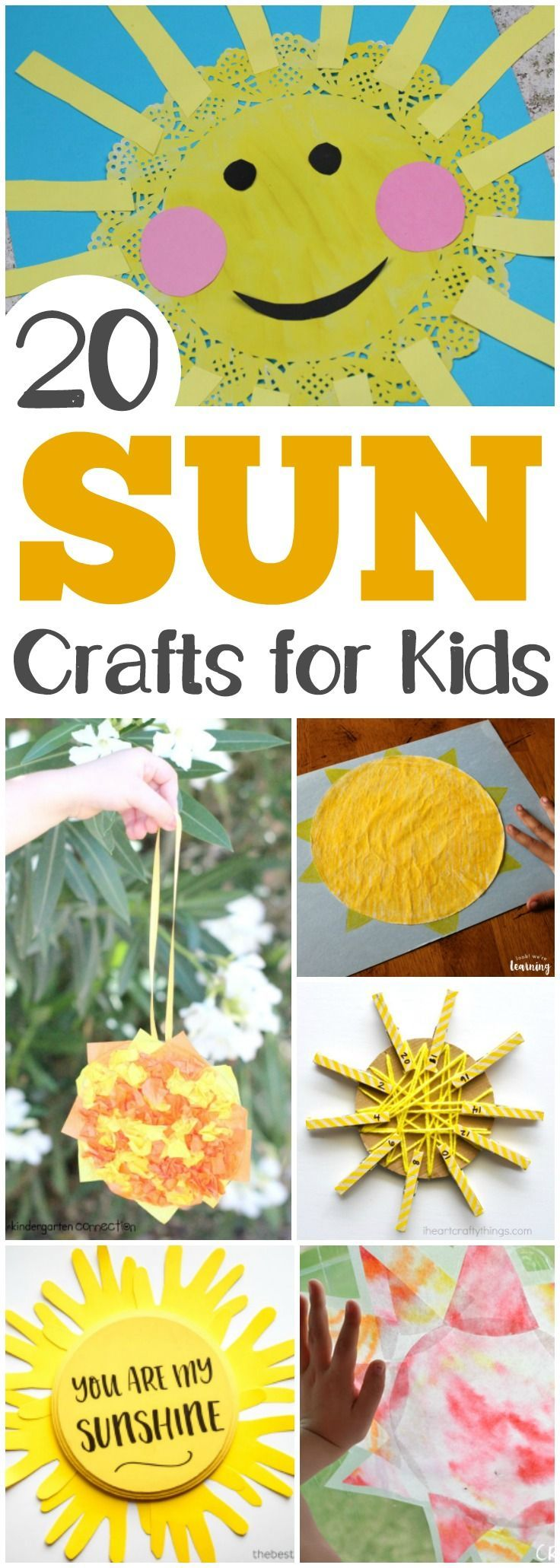 20 Fun And Easy Sun Crafts For Kids Crafts For Kids Pinterest