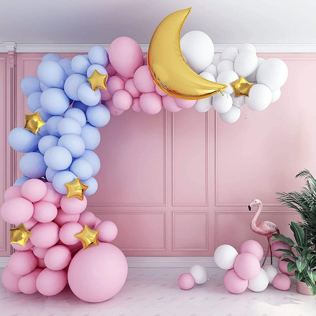 Pastel Gender Reveal Balloon Garland Kit In 2021 Gender Reveal Balloons Pastel Balloons Balloon Garland