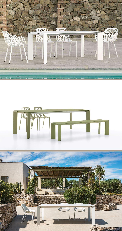Arredo Giardino In Alluminio.Tavolo Allungabile In Alluminio Pressofuso Grande Arche Di Fast Nel 2020 Arredamento Giardino Arredamento Da Giardino Tavoli