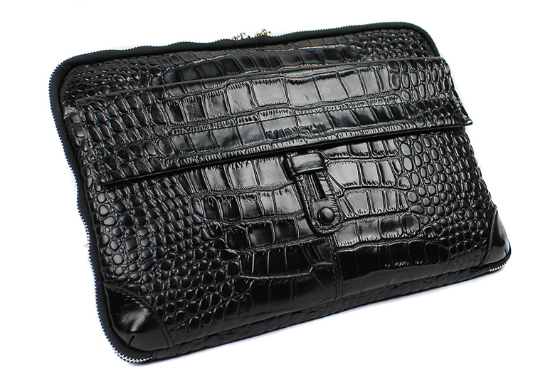 A crocodile mens clutch case is perfect for men on the go who are on the fence of carrying a briefcase. Truly stylish and sophisticated is this genuine leather mens clutch! Fits a big iphone/galaxy phone and other essentials!